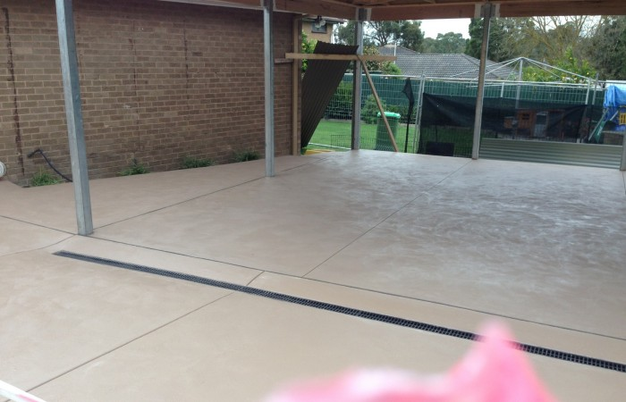 Coloured Concrete Carport
