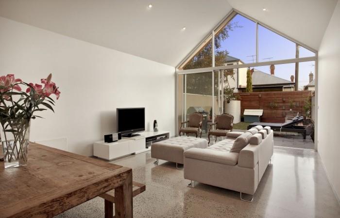 Polished Concrete Lounge Room