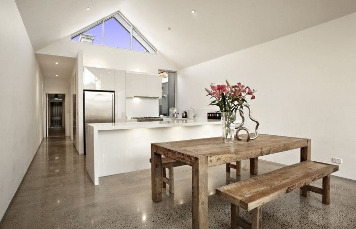 Polished Concrete Dining Room